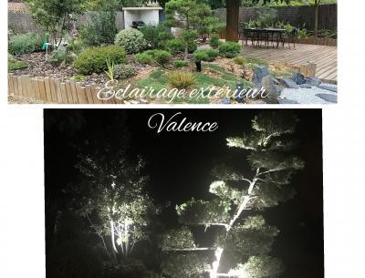 Eclairage extérieur dans une propriétée en centre ville de Valence (26000)